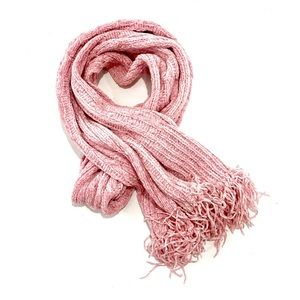Fownes Women's Scarf Pink With Fringes